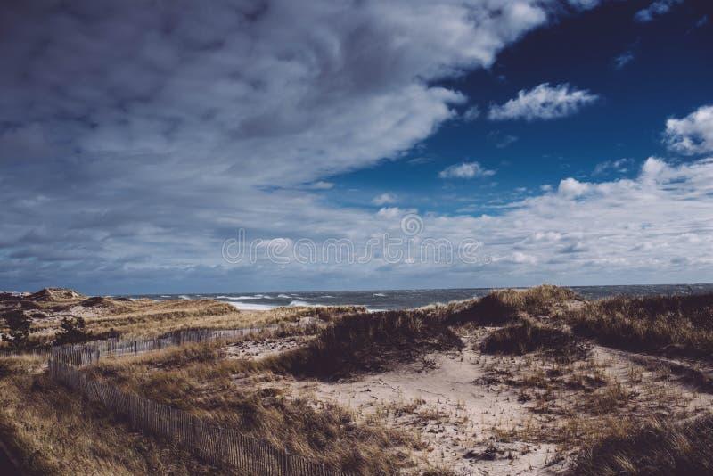 Montauk strandsikt arkivfoton