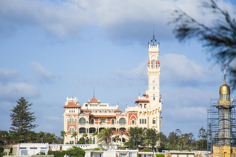 Montaza Palace in Alexandria, Egypt royalty free stock photography