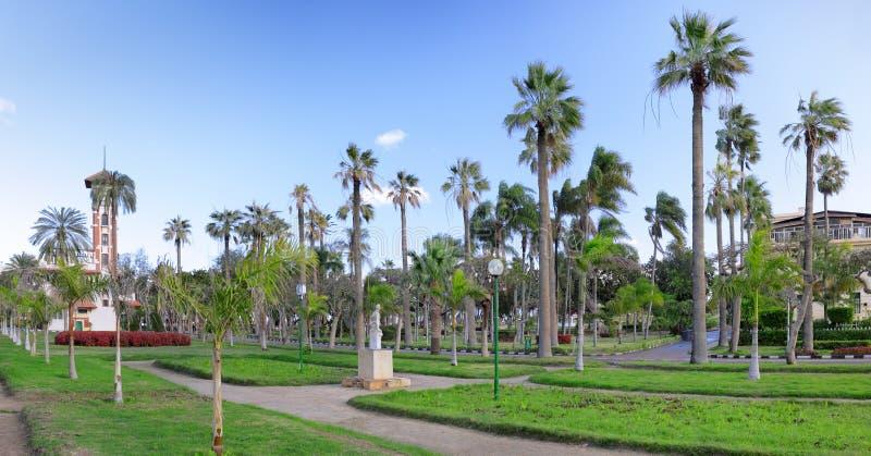 Montaza park w Aleksandria, Egipt. Panorama. zdjęcie stock