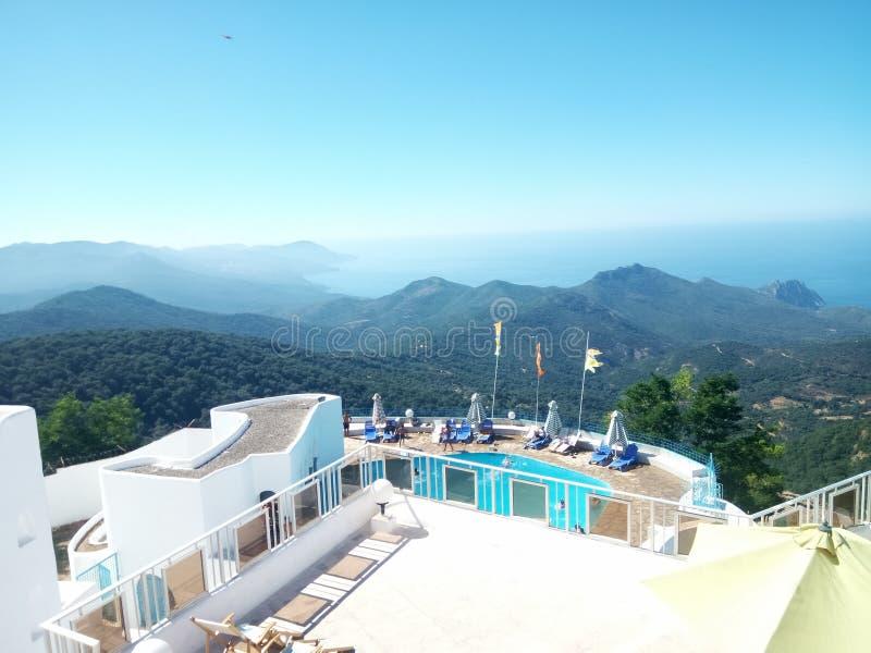 Montazah Hotel Seraïdi. Annaba Algeria in mountain of Idough seraïdi royalty free stock image