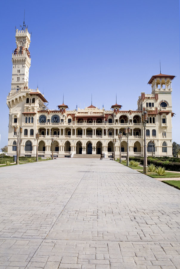 Montazah Palácio do rei Faruk imagens de stock
