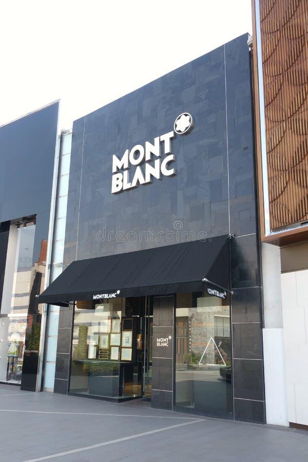 Montblanc sklep fotografia royalty free