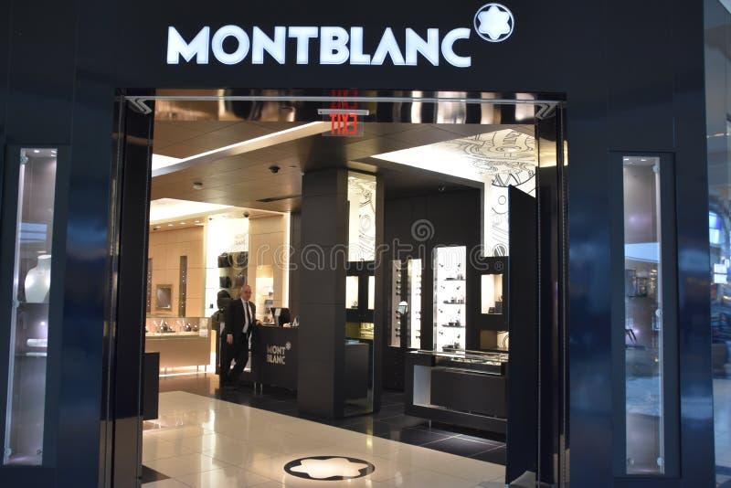 Montblanc sklep przy królewiątkiem Prussia centrum handlowe w Pennsylwania obrazy royalty free