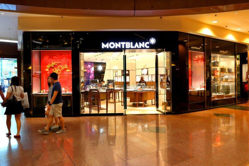 Montblanc sklep przy Ngee Ann miastem obraz royalty free