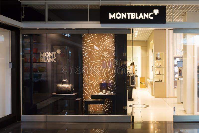 Montblanc sklep w Monachium lotnisku zdjęcie stock