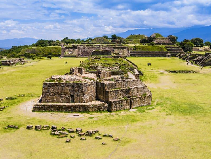 Monte奥尔本,Zapotecs,瓦哈卡,墨西哥古城  免版税库存照片