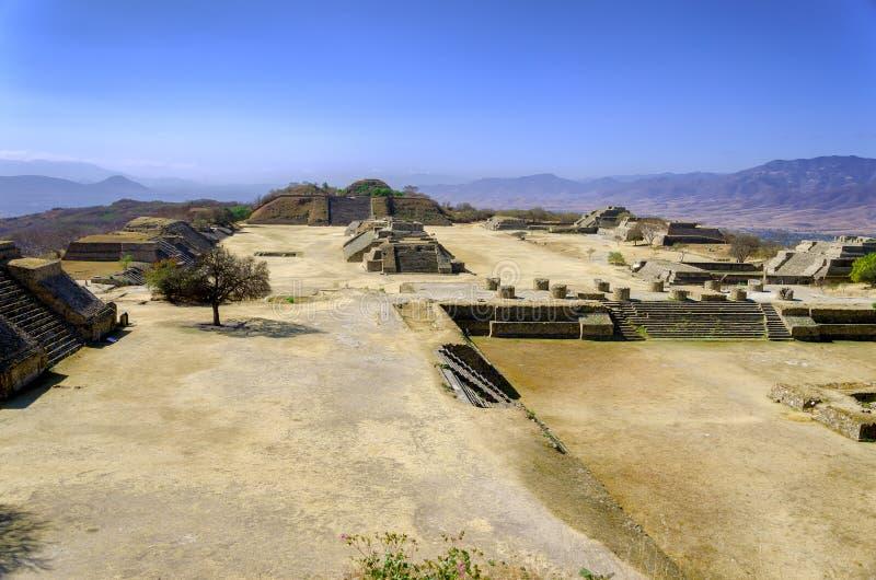 Monte奥尔本废墟在瓦哈卡 免版税库存照片