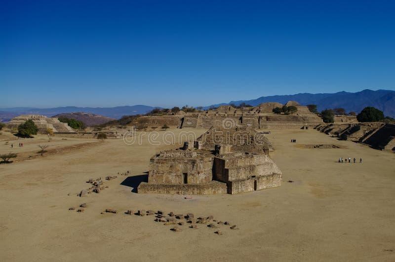 Monte奥尔本- Zapotec文明的废墟在瓦哈卡 库存照片