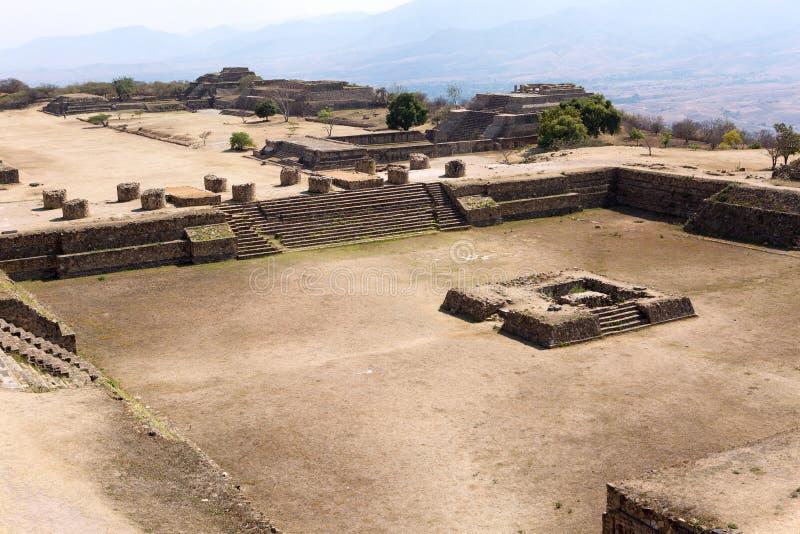Monte奥尔本Mixtec废墟 库存图片