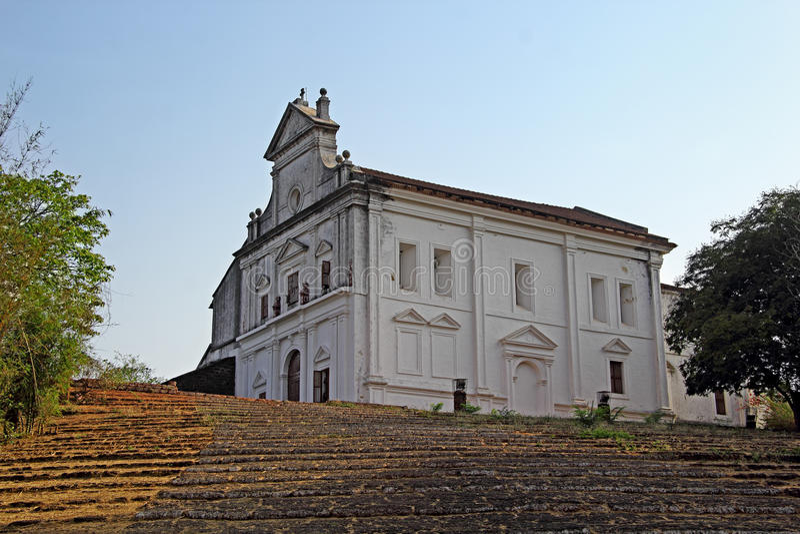 Monte小山教堂 库存图片