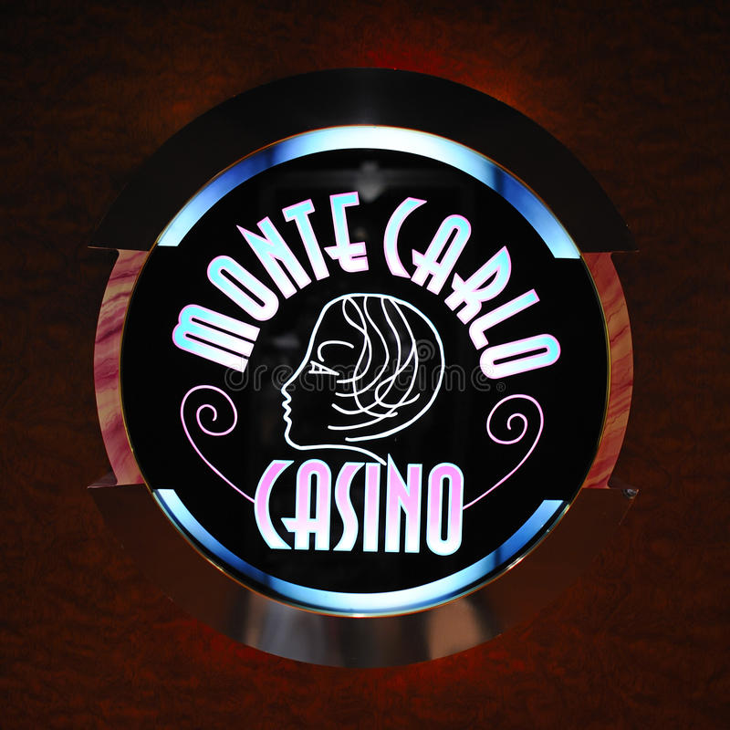 Monte - логос казино carlo стоковая фотография rf