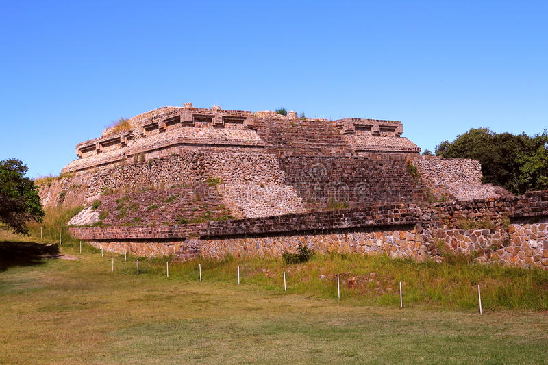 Monte alban X. Archeological site of Monte Alban located near the city of Oaxaca, in the mexican state of Oaxaca royalty free stock photos