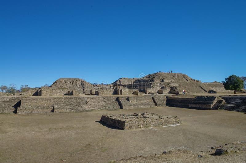 Monte Alban - as ruínas da civilização em Oaxaca, M de Zapotec foto de stock royalty free