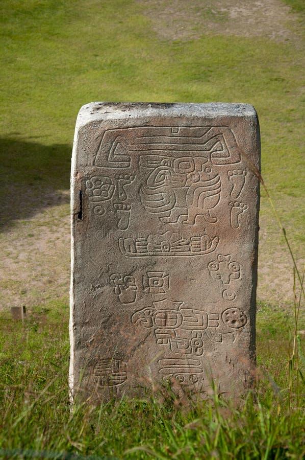 Monte Alban de piedra fotografía de archivo