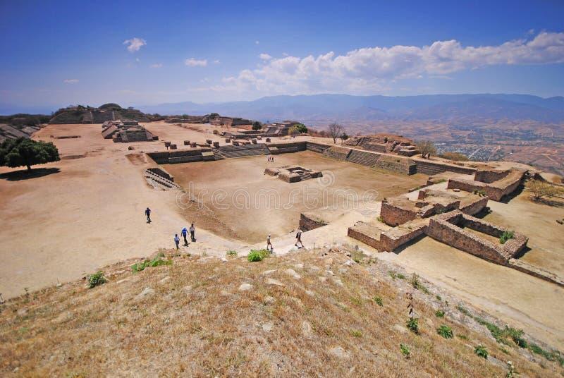 Monte Alban, local arqueológico, México imagens de stock