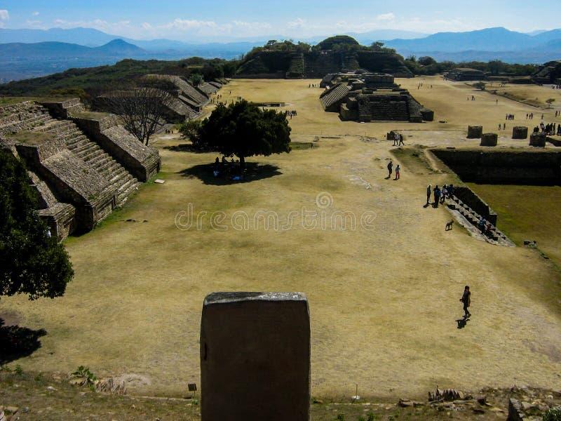 Monte Alban, Mexiko stockbilder