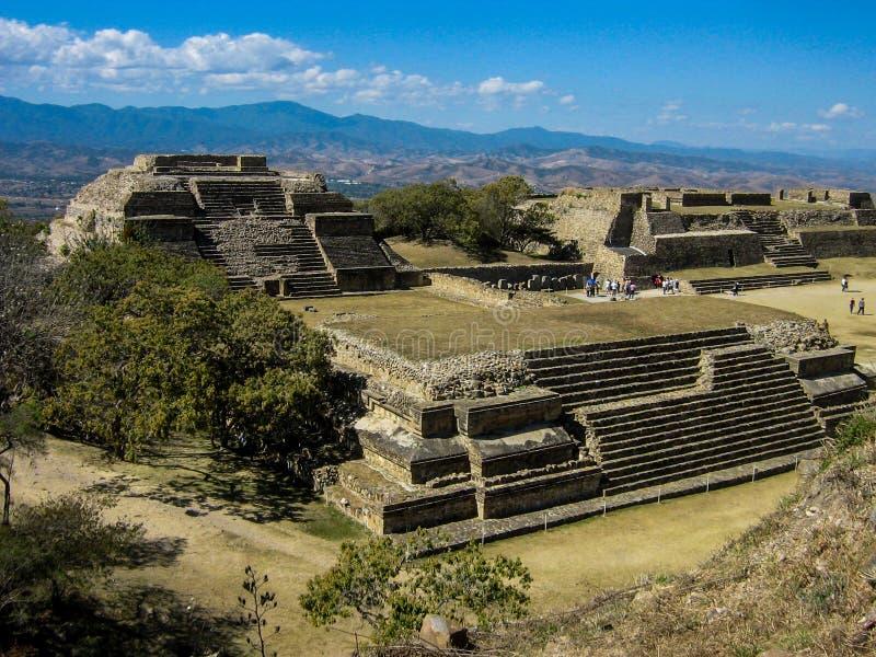 Monte Alban, Mexiko lizenzfreies stockbild