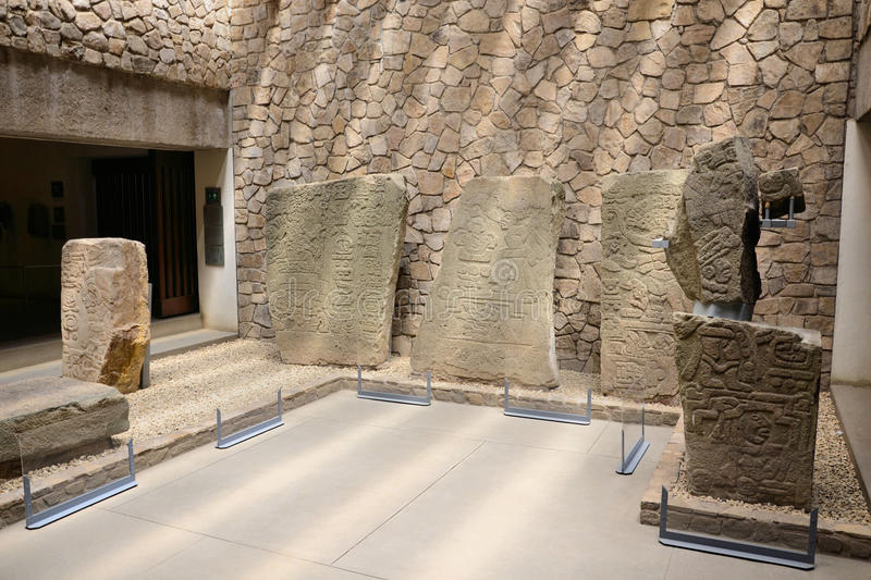 Monte Alban Museum stock afbeeldingen