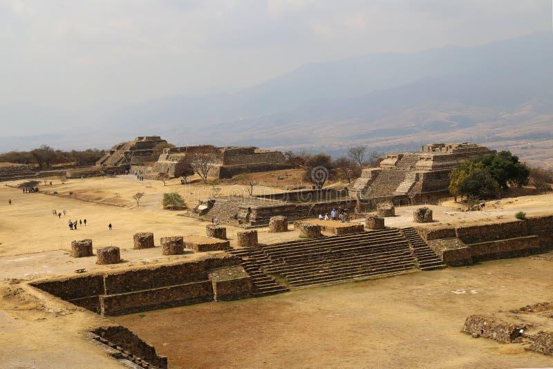 Monte Alban, Oaxaca, Messico fotografia stock