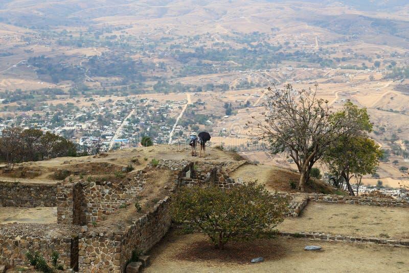 Monte Alban, Oaxaca, Mexico stock foto