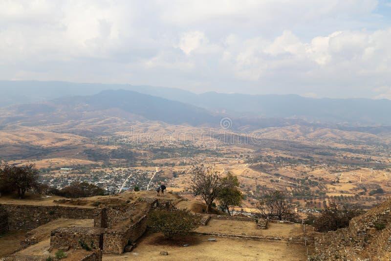 Monte Alban, Oaxaca, Mexico royalty-vrije stock afbeelding