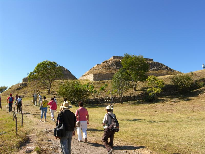 Monte Alban. Oaxaca, Mexico - Zapotec archaeological site in the southern Mexican state of Oaxaca stock photo