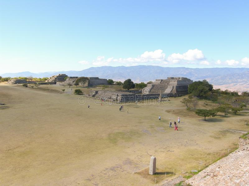 Monte Alban. Oaxaca, Mexico - Zapotec archaeological site in the southern Mexican state of Oaxaca stock photography