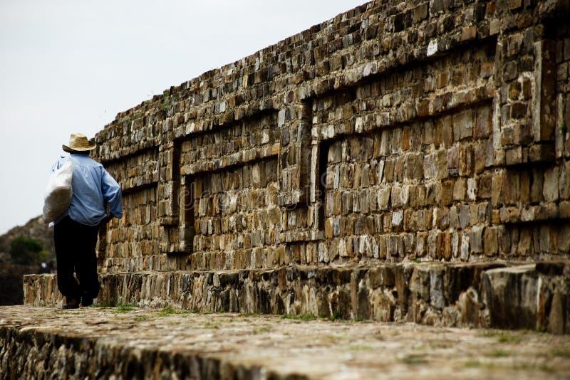 Monte Alban, Oaxaca, Mexique photo stock