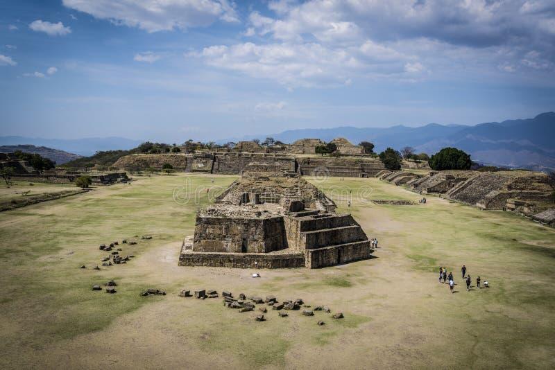 Monte Alban, Oaxaca, Mexique images libres de droits