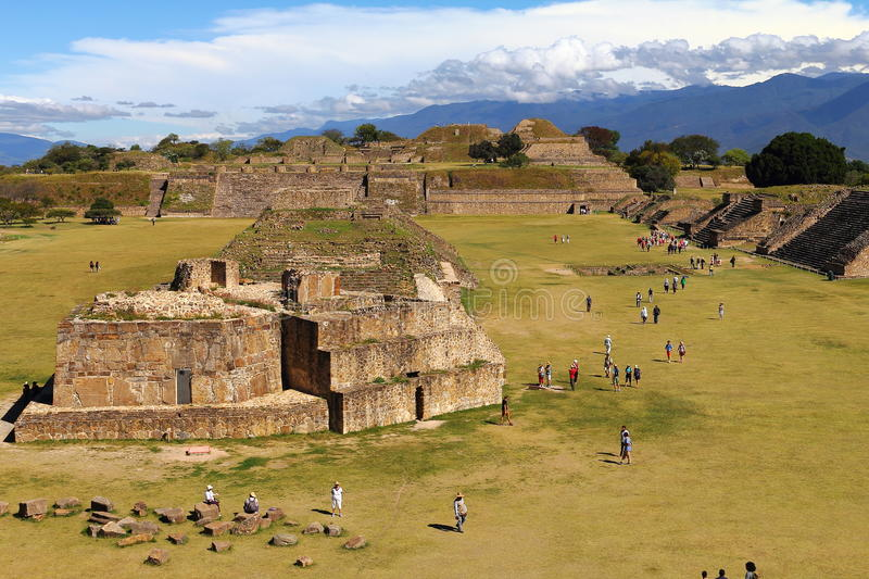Monte alban VIII. Archeological site of Monte Alban located near the city of Oaxaca, in the mexican state of Oaxaca stock photos