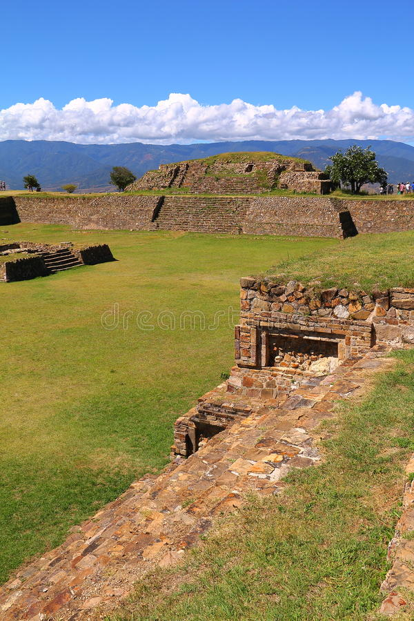 Monte alban XIII. Archeological site of Monte Alban located near the city of Oaxaca, in the mexican state of Oaxaca royalty free stock image