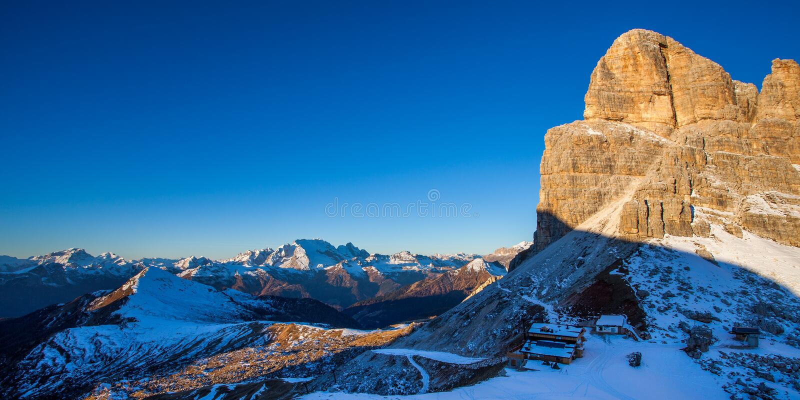 Monte Averau Dolomites, Italien arkivbilder
