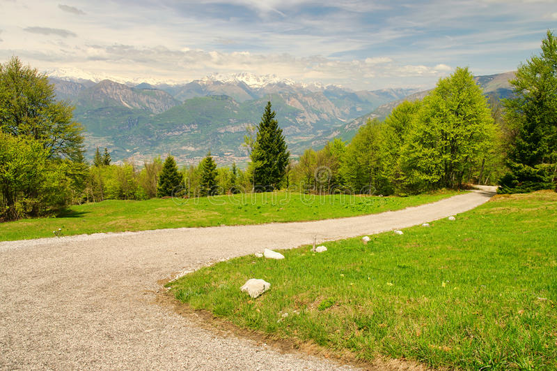 Monte Baldo. Mountains near the Lake Garda royalty free stock photos