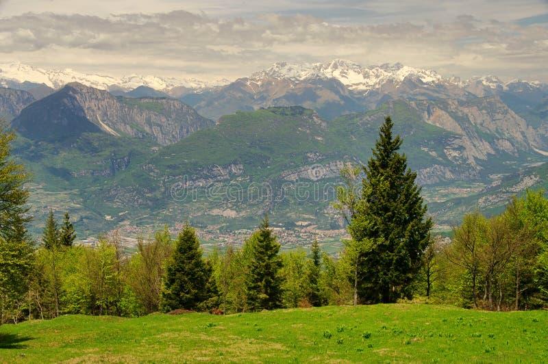 Monte Baldo. Mountains, Alps near Lake Garde stock photos