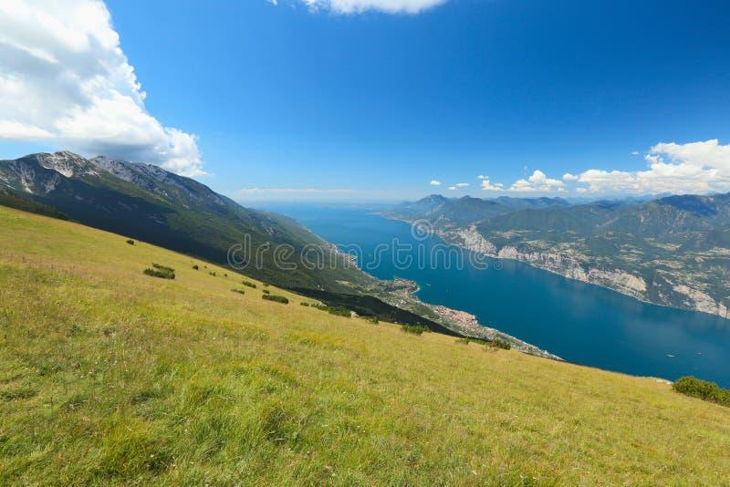 Monte Baldo, Garda Lake, Italy. Garda Lake from Baldo Mountain, italy royalty free stock photo