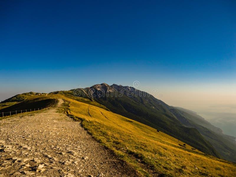 Monte Baldo and Garda Lake. Lombardy, Italy stock photos