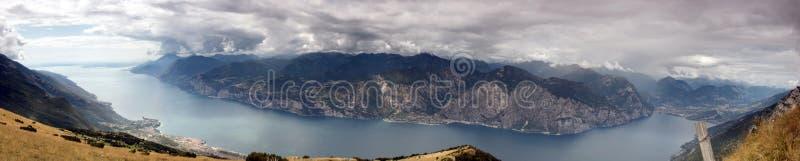Monte Baldo. Lake Garda,Italy, Panorama royalty free stock image