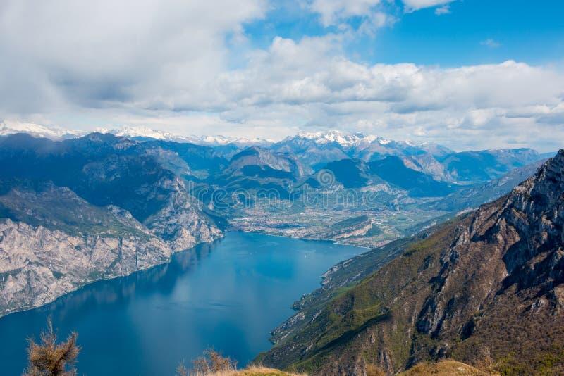 Monte Baldo. View from Monte Baldo, Lake Garda, Italy. Monte Baldo is a mountain range in the Italian Alps stock photos