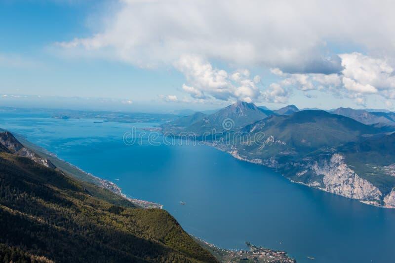 Monte Baldo. View from Monte Baldo, Lake Garda, Italy. Monte Baldo is a mountain range in the Italian Alps royalty free stock photography