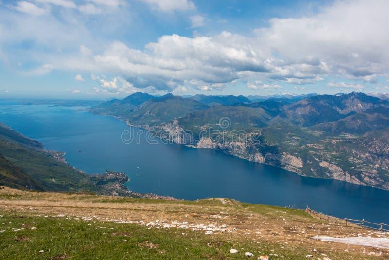 Monte Baldo. View from Monte Baldo over Lake Garda, Italy. Monte Baldo is a mountain range in the Italian Alps royalty free stock photos