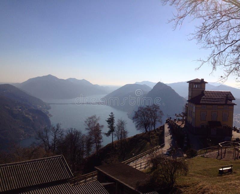 从Monte Bré的看法 图库摄影