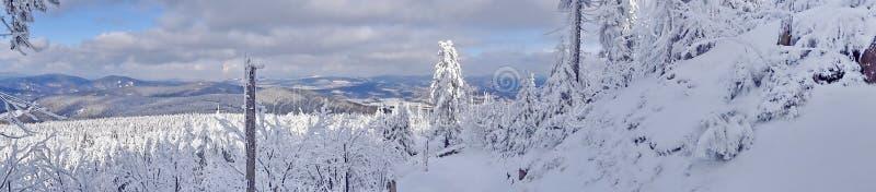 Monte brincado, distrito de Liberec, República Checa, fotografia de stock