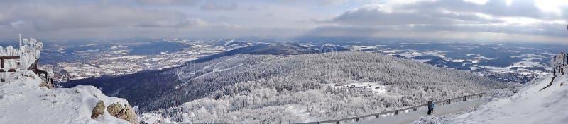 Monte brincado, distrito de Liberec, República Checa, imagens de stock royalty free