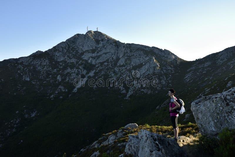Monte Capanne Hiking, Elba, Toscana, Italia foto de archivo
