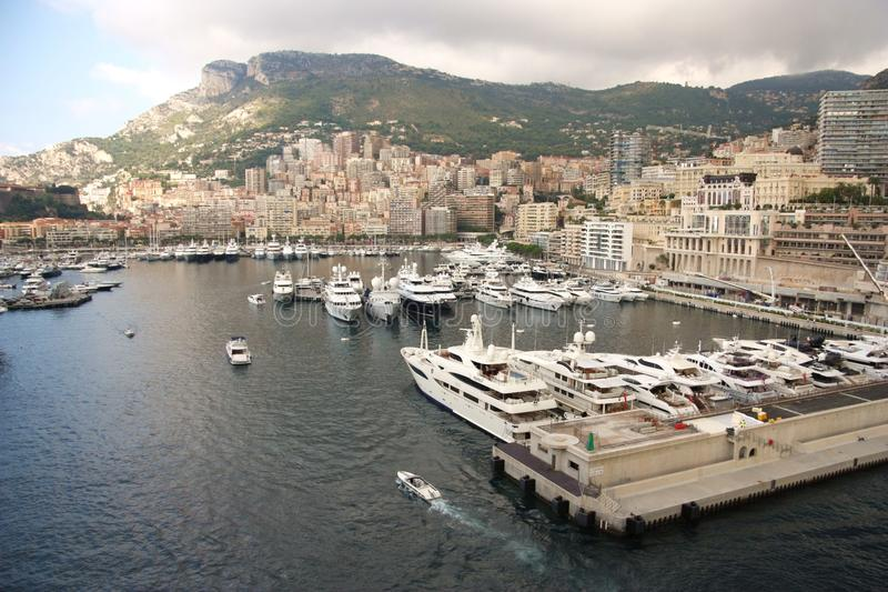 Monte Carlo. A shot showing a portion of Monte Carlos marina stock photos