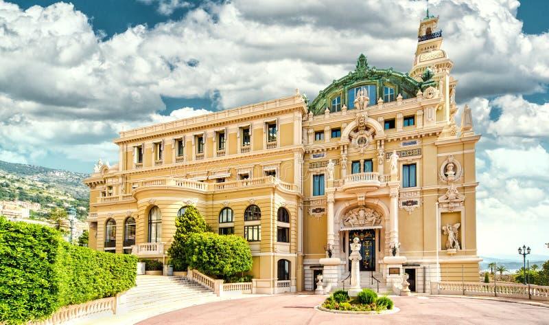 Monte-Carlo Casino e teatro dell'opera fotografia stock