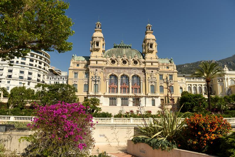 The Monte Carlo Casino, Monaco.  stock photos