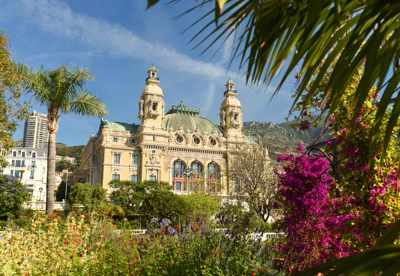 The Monte Carlo Casino, Monaco.  royalty free stock image
