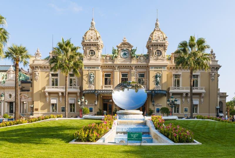 Monte Carlo Casino And Sky Mirror Sculpture In Monaco