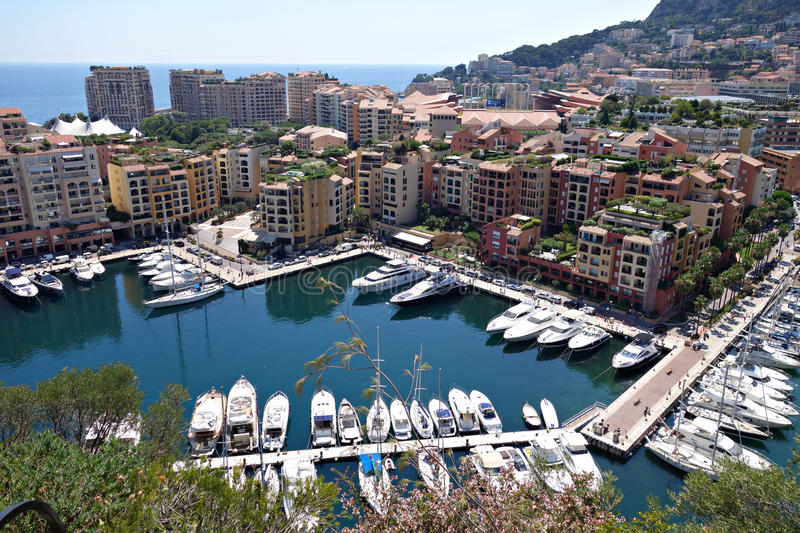 Monte-Carlo city view stock photos